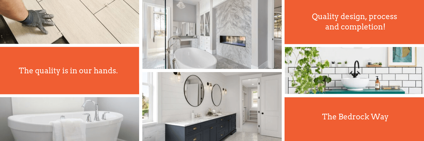 Calgary Bathroom Renovations Design by Bedrock Construction