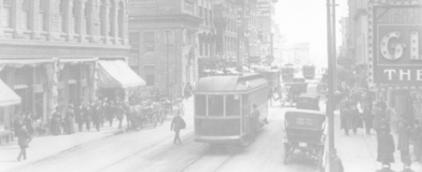 Old scene of downtown Calgary