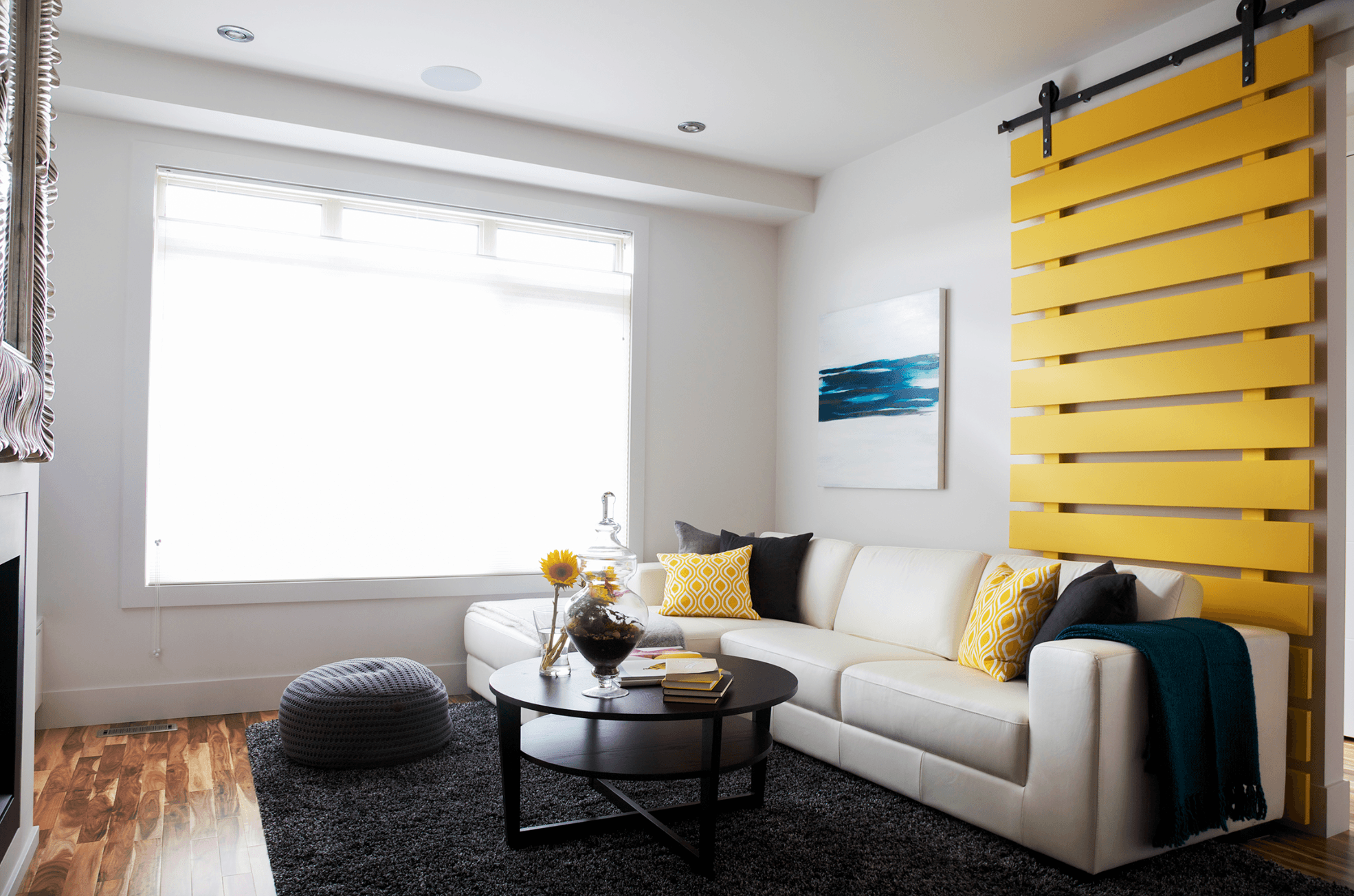 Stephanie Charest Portfolio - Living Room with Yellow Door.