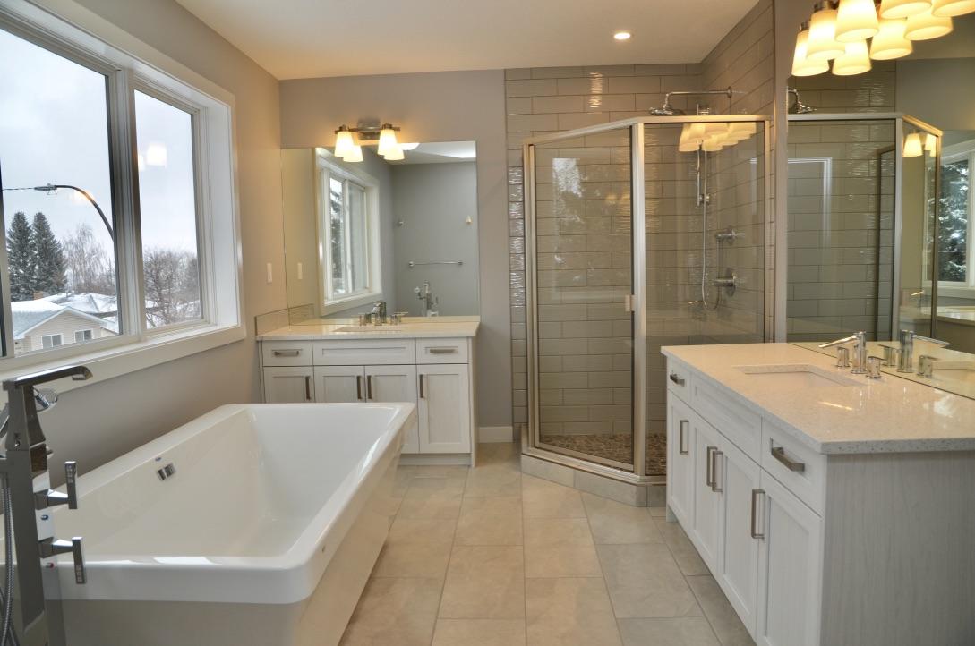 Bedrock Construction - full view of master bathroom renovation