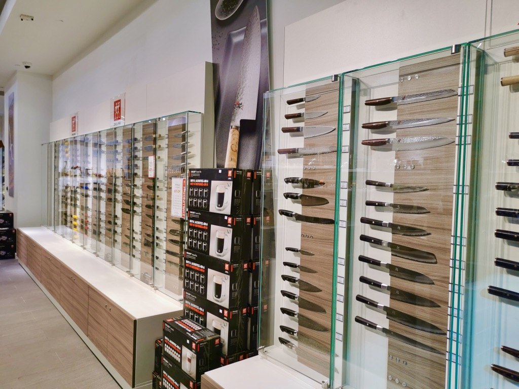 Bedrock Construction - Pop-up Shop at Chinook Mall - view of knives