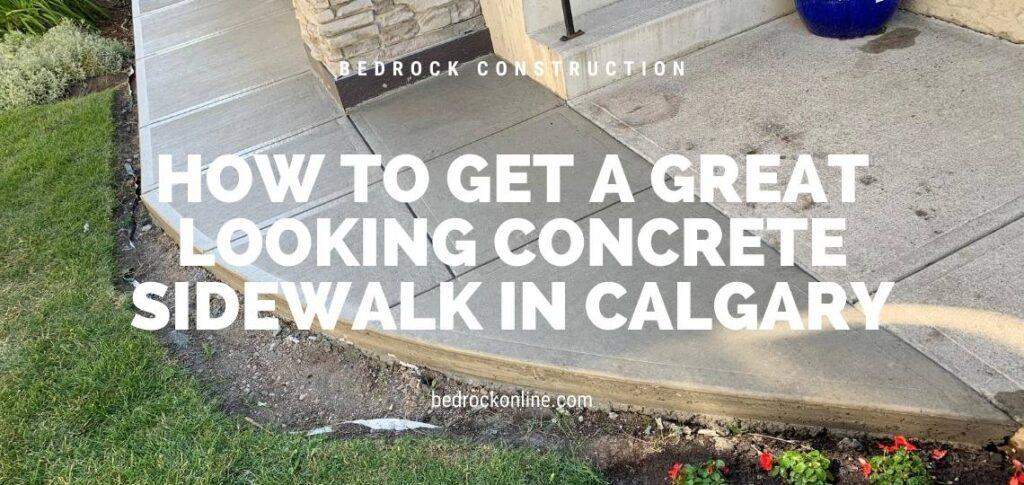 Concrete Sidewalks Calgary