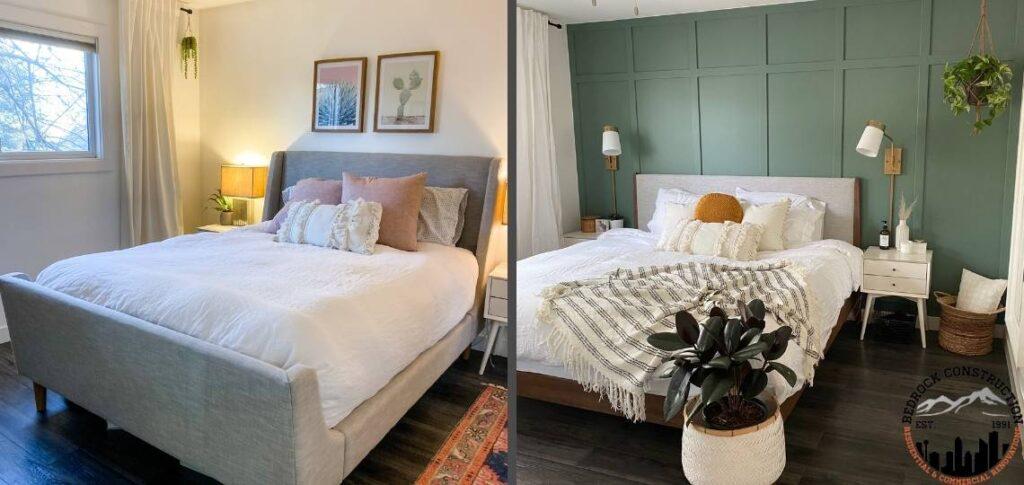 Side by side of bedroom make over